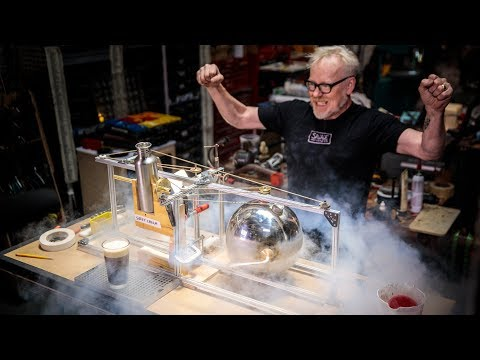 Adam Savage Builds a Hero's Engine Sweet Cream Pourer!