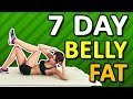 7 Day Challenge To Lose Belly Fat - Home Workout