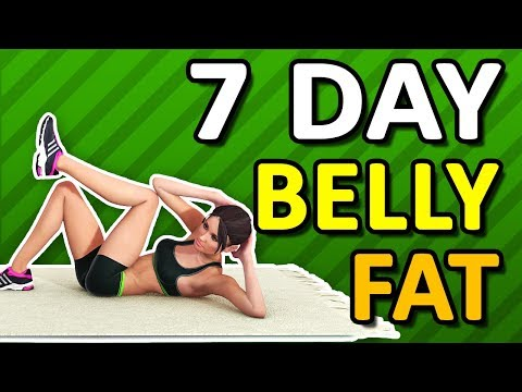 7 Day Challenge To Lose Belly Fat – Home Workout