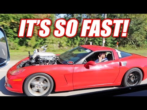 The Auction Corvette is STUPID Fast… FULL SPOOLING On The First Drive!