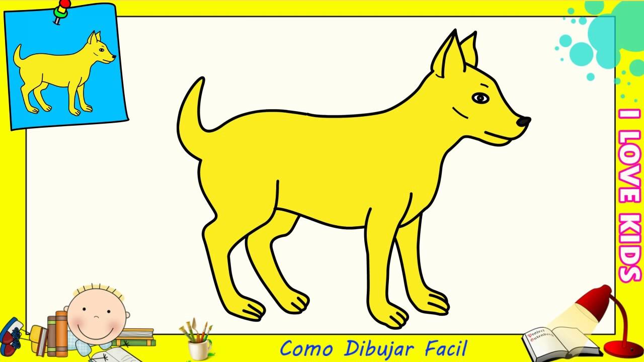 Dibujos De Perros Faciles Paso A Paso Para Niños Como Dibujar Un