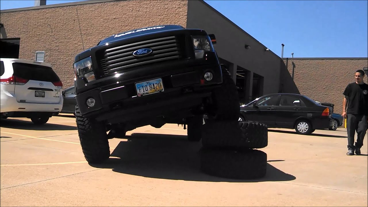 lifted ford f 150 truck flex test youtube