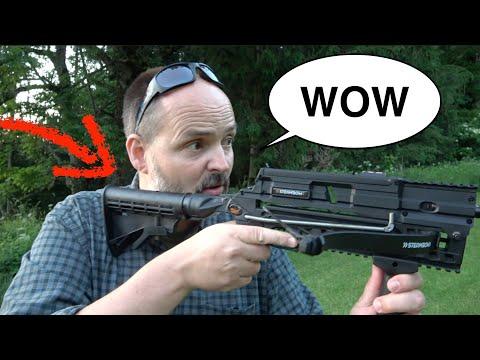 Ja, das ist die BESTE Armbrust der Welt | Schnell-Schuss-Armbrust Steambow Stinger 2