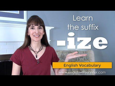 Learn the Suffix -IZE ??English Vocabulary with Jennifer