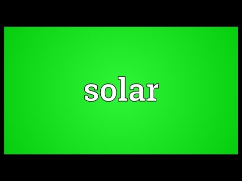 Solar Meaning