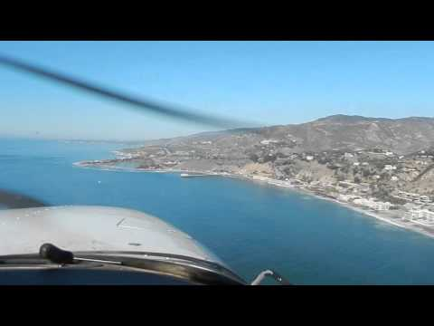 Flying out of SMO up the coast and around to Van Nuys Part 1