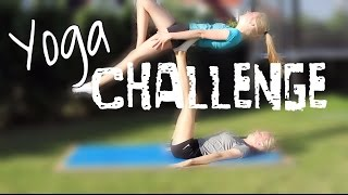 Yoga challenge I Finja and Svea