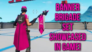 *NEW* FORTNITE BANNER SKINS! BANNER BRIGADE SET SHOWCASED IN GAME - BANNER CAPE, EMBLEMATIC SOUND