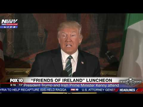 FULL EVENT: Friends of Ireland Luncheon (w/ Paul Ryan, President Trump, Prime Minster Kenny) FNN
