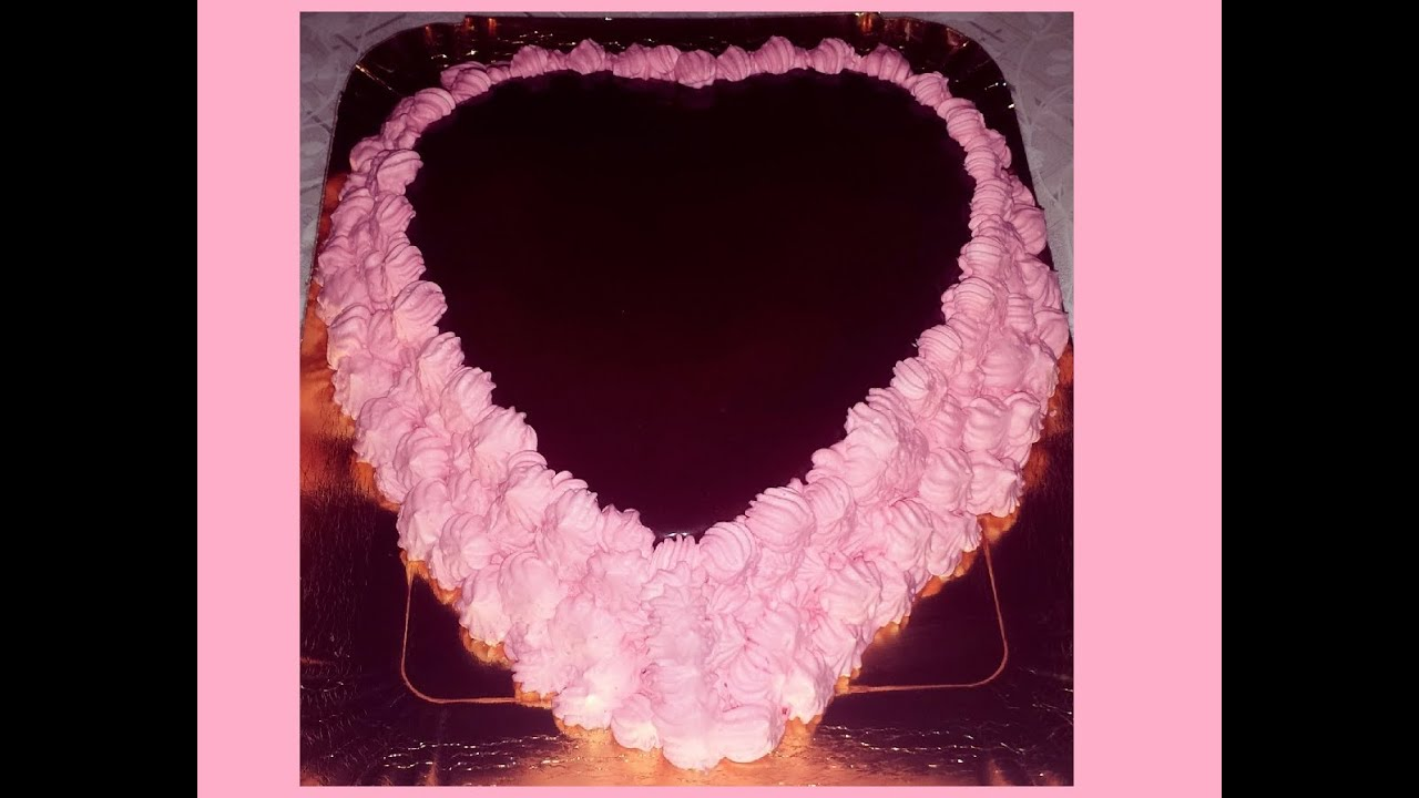 Estremamente Tutorial Ricette:Torta di San Valentino a forma di cuore al  KM97