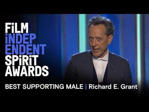 RICHARD E. GRANT wins Best Supporting Male at the 2019 Film Independent Spirit Awards
