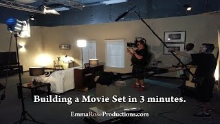 Building a Movie Set in 3 minutes.