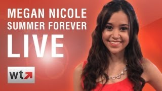 """Megan Nicole Performs """"Summer Forever"""" and Answers LIVE Fan Questions"""