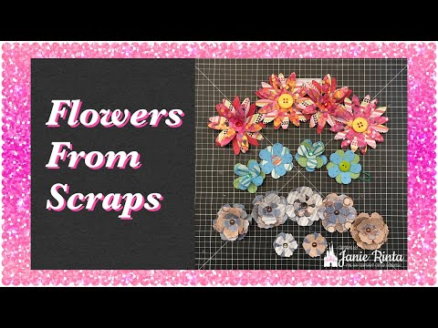 Let's Make Flowers With Paper Scraps