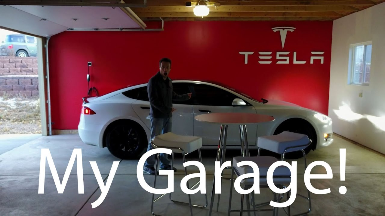 Turning My Garage Into a Tesla Gallery YouTube