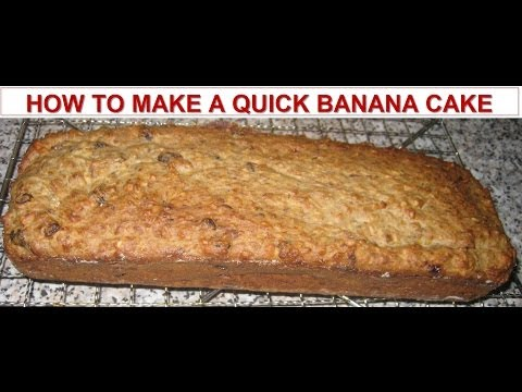 how to make banana cake youtube