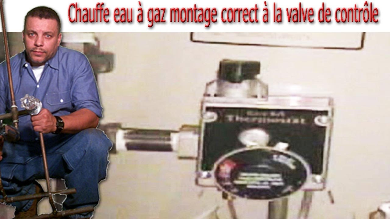 chauffe eau gaz montage correct la valve de contr le youtube. Black Bedroom Furniture Sets. Home Design Ideas