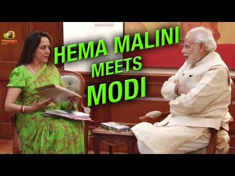 Lok Sabha MP Hema Malini calls on PM Narendra Modi