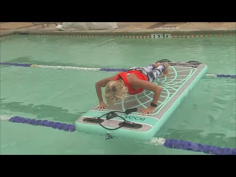 BOGA Fit combines high intensity and low impact moves on the water