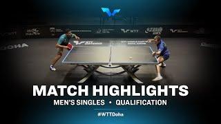 Assar Omar vs Vladimir Sidorenko | WTT Contender Doha 2021 | Men's Singles | QUAL Highlights