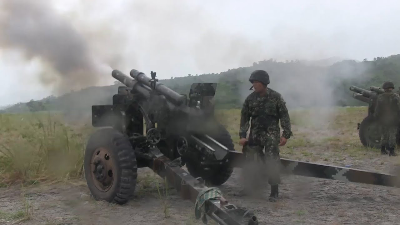 Philippine Marines  Demonstrate 105mm Howitzer Firepower
