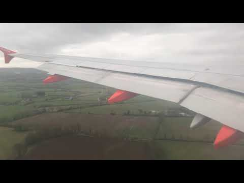 EasyJet A319-111 G-EZDN Arrival into Belfast Intl (BFS/EGAA)