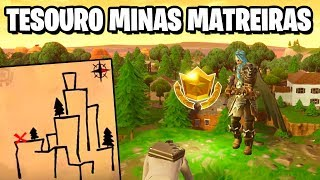 TREASURE MAP IN MINAS MATREIRAS-Fortnite challenges Week 9 (Battle pass 5)