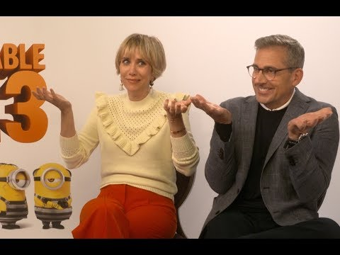 Kristen Wiig and Steve Carell Have A Villain Off - Despicable Me 3 EXCLUSIVE INTERVIEW