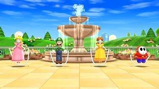 Mario Party 9 Step It Up - - Mario VS Luigi VS Peach VS Daisy Master Difficulty | Mario Cartoon Game