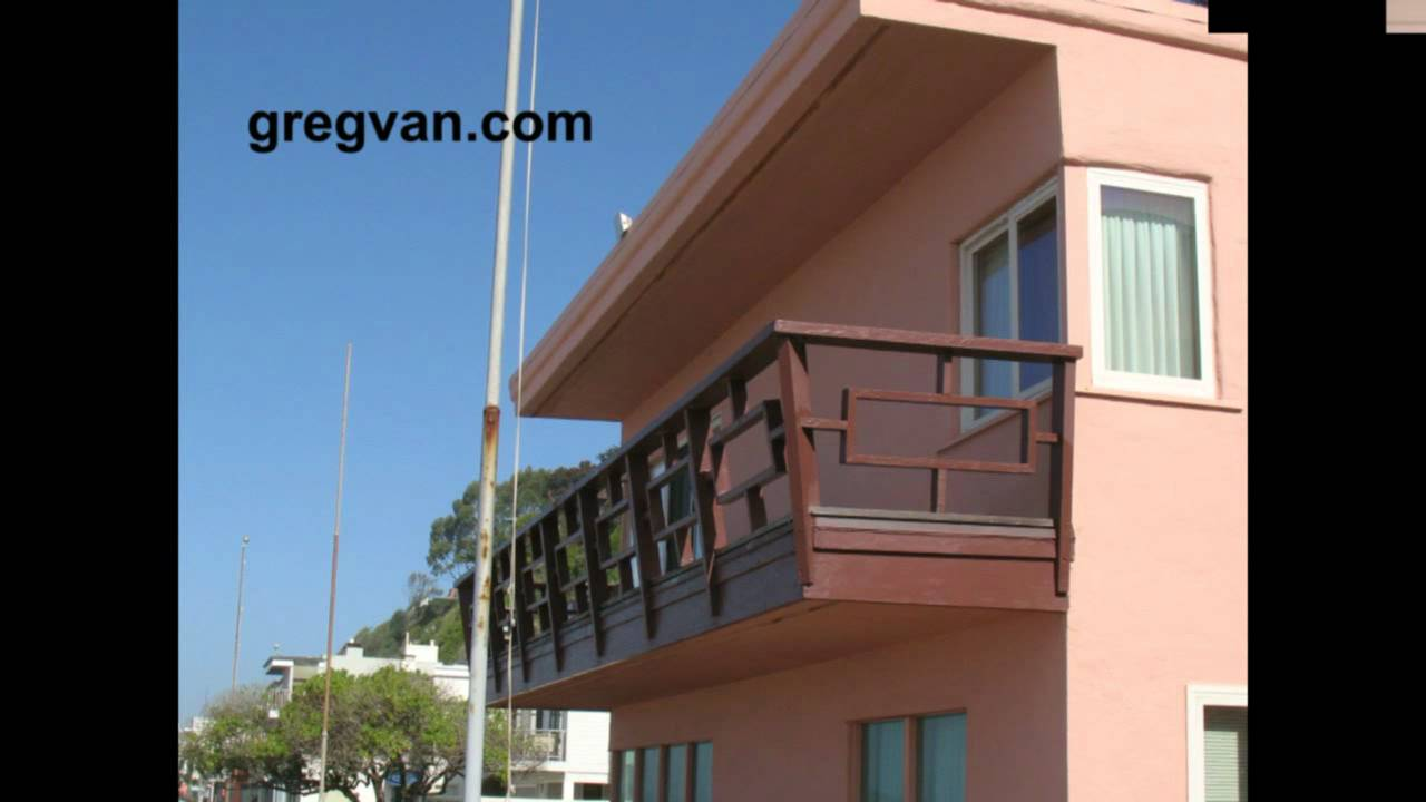 1940s wood balcony railing interesting architecture and home building