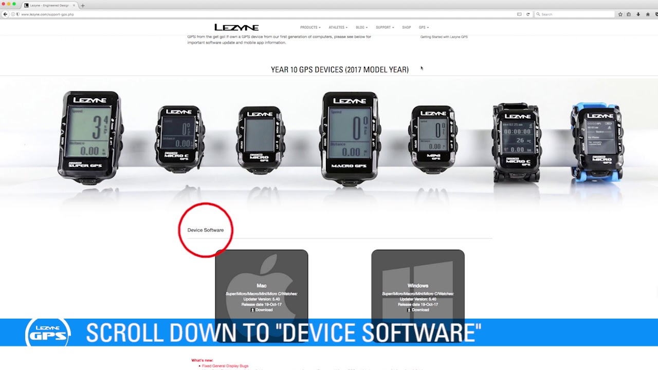 Updating your GPS device – Lezyne Customer Service and Warranty Support