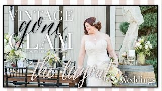 "Sacramento Wedding Inspiration: ""Vintage Gone Glam"" The Layout-Styled Shoot"