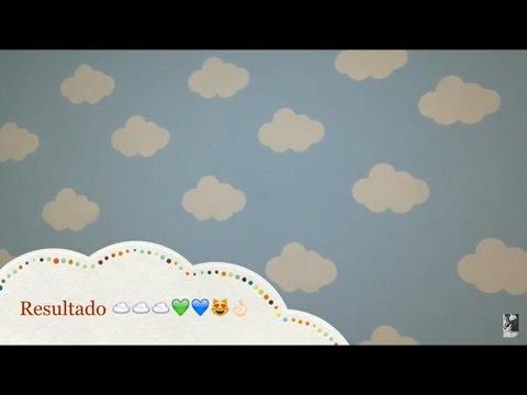 Diy Parede Nuvens Pintando O Quarto Do Bebê Youtube