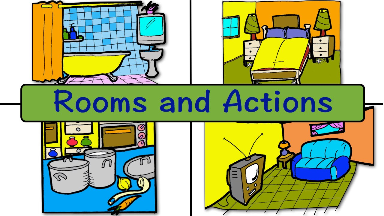 Parts of the house english language youtube - Rooms And Actions At Home Easy English Conversation Practice Esl Efl Youtube