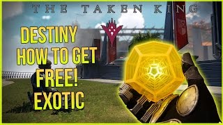 Destiny The Taken King: How to get Free Exotic Weapon! Xbox Montecarlo & Hawkmoon!?