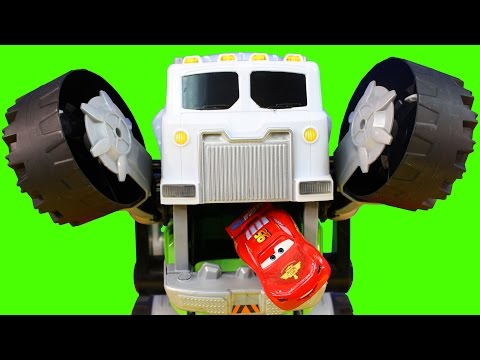 Thumbnail: Matchbox Stinky The Garbage Truck Eats Surprise Cars And Disney Pixar Cars Lightning McQueen