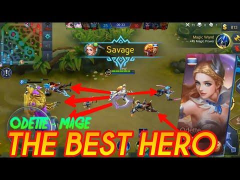 SAVAGE TERBAIK ODETTE   New Hero Mage   MOBILE LEGENDS : Bang-Bang thumbnail
