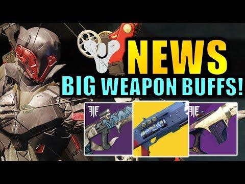 Destiny 2 News: BIG Weapon Buffs & Nerfs! (Telesto Nerf!) - The Future of Destiny! thumbnail