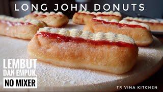 RESEP DONAT LONG JOHN STRAWBERRY CREAM LEMBUT   LONG JOHN DONUTS RECIPE
