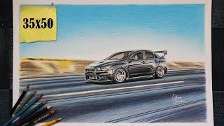 Mitsubishi EVO 10 | USA | Car Drawing