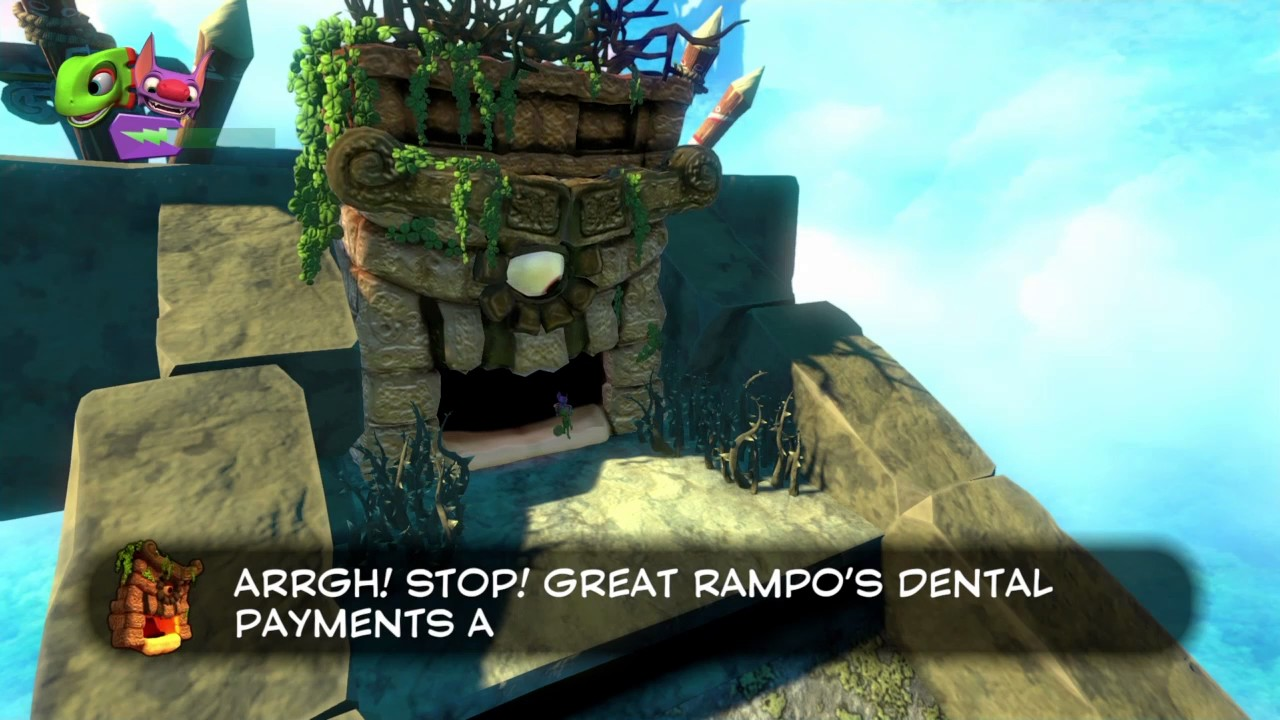 How To Beat The Great Rampo First Boss Yooka Laylee Youtube Ps4yooka Reg 2