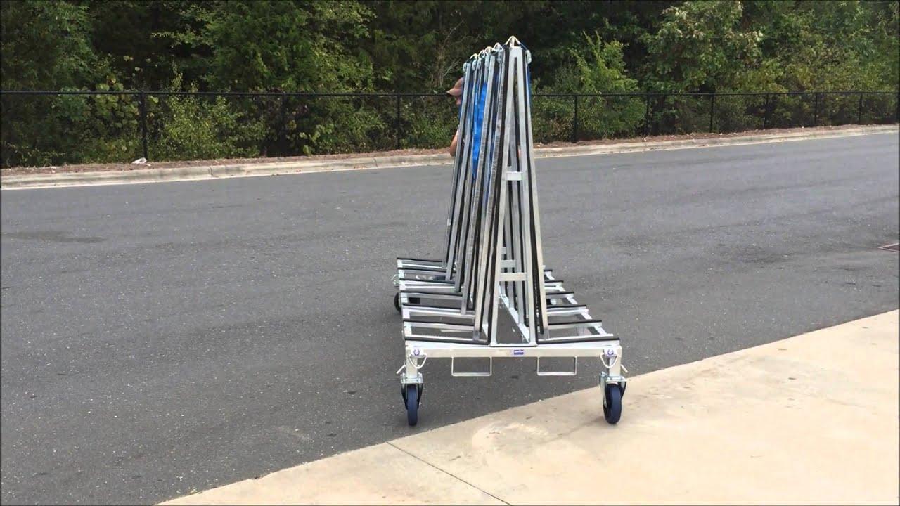 Weha 8 Ft Granite Transport A Frame Cart Truck Rack - YouTube