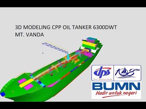 3D Modeling Project Clean Petroleum Product (CPP) Oil Tanker 6300 DWT MT. VANDA