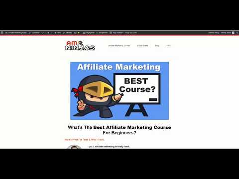 BEST Affiliate Marketing Course - How I Got Started With Affiliate Marketing thumbnail