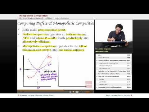 """Monopolistic Competition""   AP Microeconomics with Educator.com"