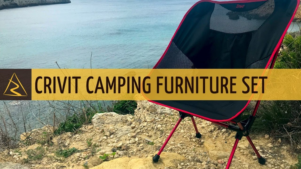 Crivit Compact Foldable Camping Furniture Set   Chair And Table   LIDL