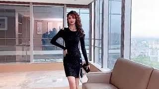 여성 반짝이 어깨트임 섹시 원피스 홀복 클럽의상 섹시 …