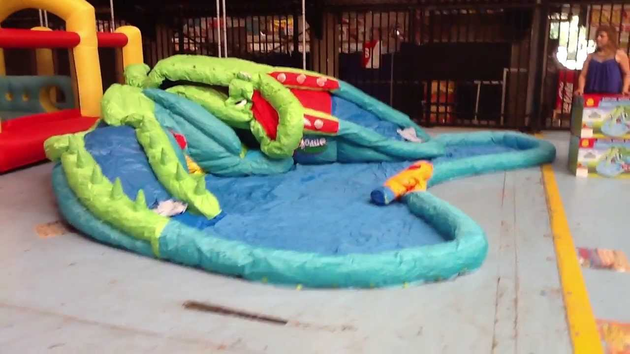 crocodile water park new inflatable water slide youtube