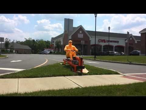 Orange Bodysuit Man Working Out