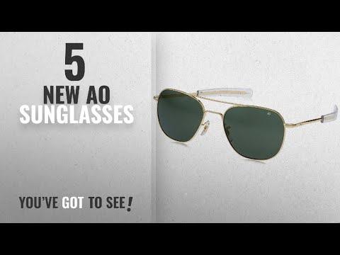 Top 10 Ao Sunglasses [ Winter 2018 ]: AO Original Pilot Sunglasses 57mm Gold Frames With Bayonet